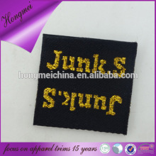 Fashion accessories private label/gold letter label