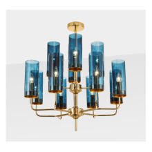 Contemporary dining room brass luxury copper lighting gold glass pendant lamp chandelier