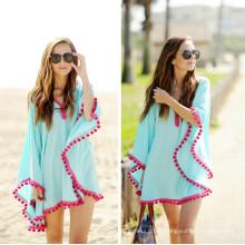 Entrega rápida de la venta caliente Moda suelta más abrigo de la playa del tamaño (50156)
