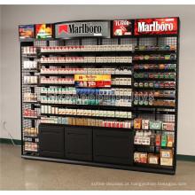 Publicidade Interactive Display Fixture Metal Wall Mount Tabacco Shop Grande Gabinete de exibição de cigarro