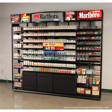 Publicidad Interactive Display Fixture Metal Wall Mount Tabacco Tienda de cigarrillos grandes Display Cabinet