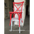 Resin Material and No Folded stacking cross back chair