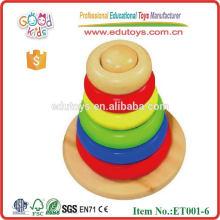 A estrenar Jenga del arco iris juega el juguete del juego del bloque de madera