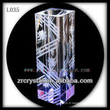 Beau vase en cristal L035