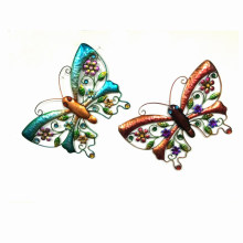 2 Asst Garden Colorful Butterfly Metal Wall Decoration