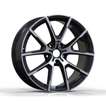 Lichtmetalen BMW Replica Wheel Satin Black gefreesd gezicht