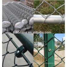 Горячего погружения гальванизированная Загородка звена цепи / ПВХ покрытием звено цепи сетки