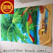 diferentes toalhas de praia de design impresso / toalhas de praia de veludo / toalhas de praia de microfibra