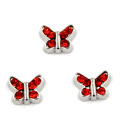Cute Butterfly com birthstones encantos flutuantes para vidro Locket