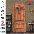 JHK-017 Merpauh Kerala Carved Rubber Wood Solid Interior Door