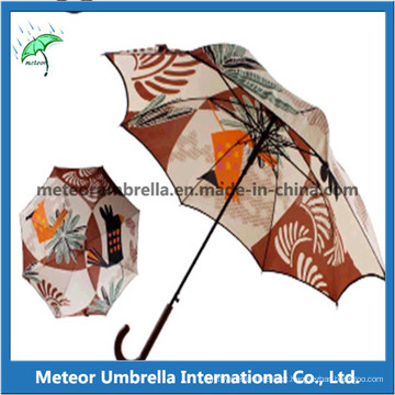 23inches Auto Open flor da moda impresso Umbrella reta