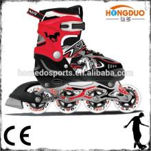 Sapatas de patinação em linha ajustáveis para skate inline