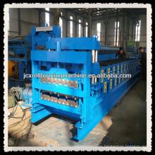 JCX840 y 900-B1, Azulejo esmaltado y IBR de doble capa de rollo de chapa de metal de techo que forma la máquina