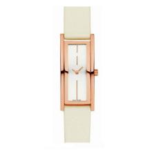Mouvement de quartz en cristal de saphir de montre de courroie de cuir de dames de mode 30meters résistant à l'eau