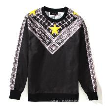 3D Stars Printing Around Neck Pattern Man Sweatshirt Jersey