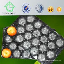 Le marché italien populaires d'emballage d'Apple Matt surface Europe taille standard n'importe quelle couleur disponible plateau de nid de fruits en plastique approuvé par FDA