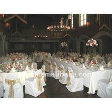 Couverture de chaise de banquet standard, CT089 polyester matière, durable et facile lavable
