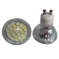 Светодиодная лампа GU10 / MR16 / E27 / E14 4W (27SMD 5050 со стеклянной крышкой)
