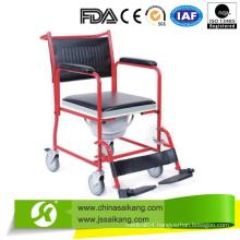 Plastic Commode Seat with Cushion & Buchet (CE/FDA/ISO)