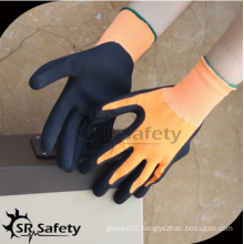 SRSAFETY 13g black foam latex/2016 new gloves/working gloves