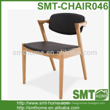 Chair Leather Conference Dining Waiting Room Wooden Legs Office Seat