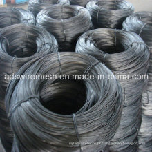 2,5 milímetros 1,5 milímetros fio de ferro preto / preto recoberto vinculativo fio