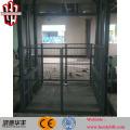 CE lead rail lift warehouse platform lift hydraulic electrical freight elevator