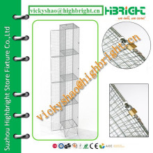 grid wire mesh locker with divider panel