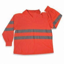 ANSI Class 3 Safety Shirt, Long Sleeves, Made of 100% Polyester Cool Mesh, Lightweight/Breathable
