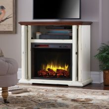 """23"""" Glass Front Electric Fireplace"""