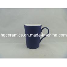 Noir Couleur Changer Latte Fine Bone China Mug; Polonais terne