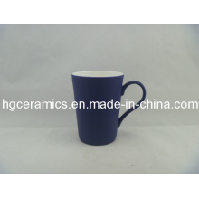 Black Color Change Latte Fine Bone China Mug; Dull Polish