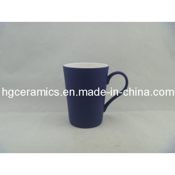 Black Color Change Latte Fine Bone China Mug; Polonais ennuyeux