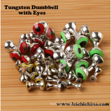 Wholesale Fly Tying Beads Tungsten Dumbbell with Eyes