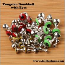 Venda por atacado Fly Tying Beads Dumbbell de tungstênio com olhos