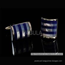 VAGULA Stylish Silver Catseye Cufflinks