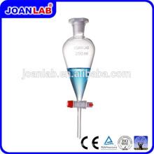 JOAN Laboratorio Pyrex Glass Separatory Funnel PTFE Llave de paso Proveedor