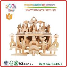 Venta caliente en los EEUU 348pcs Bloques del juguete Bloques huecos Bloques de madera