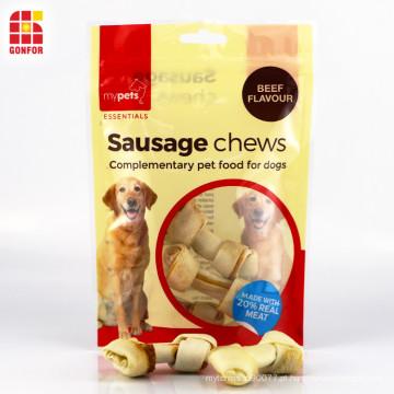 A salsicha mastiga o malote stand-up de empacotamento de alimentos para animais de estimação