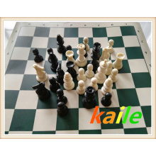 Conjunto de xadrez de pacote de lona de viagem