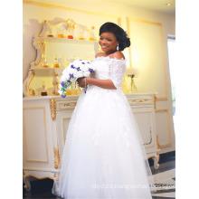 Alibaba vestido de bola Appliqued vestidos de boda de África China Designer 2017