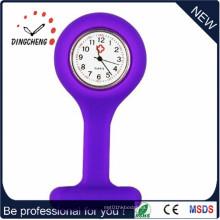 Reloj púrpura de la enfermera del cuarzo del encanto de 2015 (DC-905)