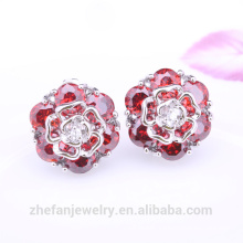 New design fashion women christmas silver earring costume jewelry wholesale alibaba