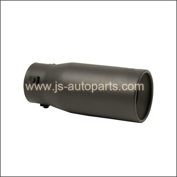 INLET 2.875 OUTLET 3.75 STRAIGHT CUT BLACK RESONATED BOLT-ON  EXHAUST TIP