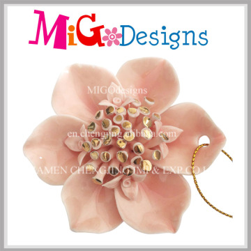 Fashionable Flower Shaped Ceramic Sweater Pendant for Decoration