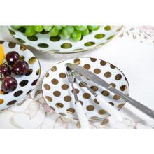 Platos de servicio de cena de diseño personalizado de fábrica de China, juego de platos de cerámica