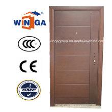 Serbia Market Popular Exterior MDF Steel Wood Armored Door (W-A16)