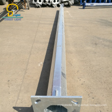 Various types of solid 12M Q235 steel traffic light pole