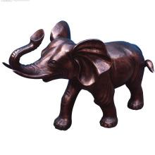 Estatuillas de elefante de estatua de bronce de elefante pequeño