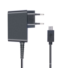 Carregador do curso do adaptador do poder de 5V 2A para o PC da tabuleta com micro plugue de USB